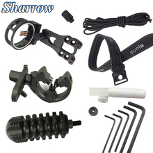 цена на Archery Upgrade Combo Bow Sight,Arrow Rest ,Stabilizer ,String Wax,Bow Sling,D Loop,Peep Sight Compound Bow Accessories Set