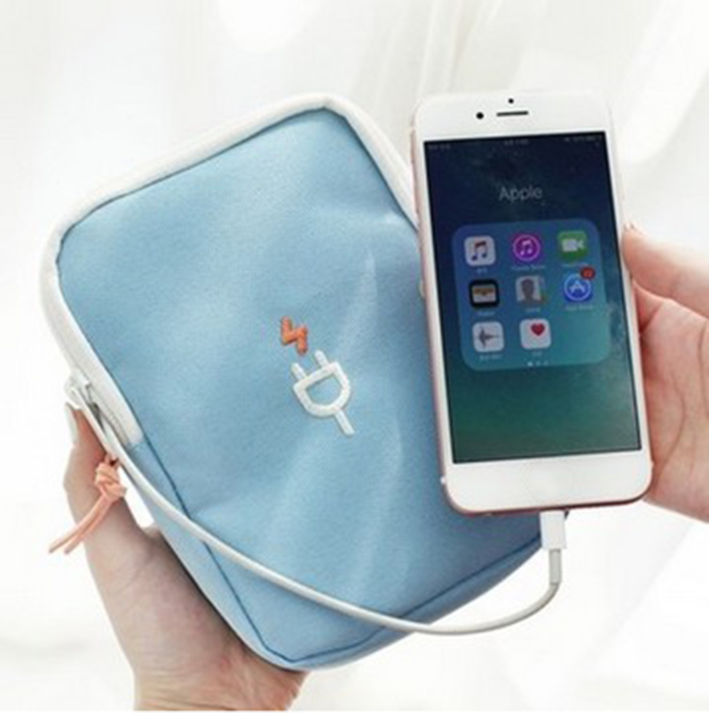 Travel Bag Electronic Digital Storage Package Mobile Phone Charging Treasure Data Line Organizer Travel Accessories Pouch
