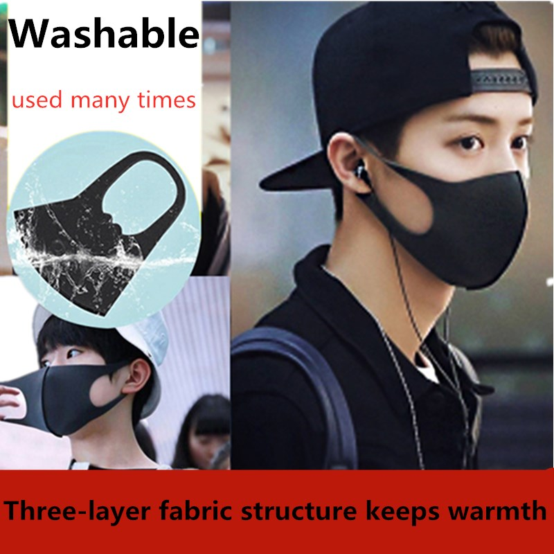 Pollution Spring Winter3D Mask Anti Air Dust And Smoke Pollution Mask With Elastic Earloop Washable Mask Made For Men Women