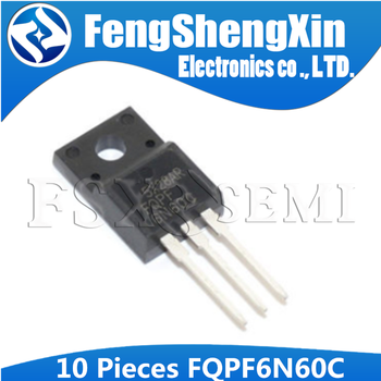 10pcs/lot  FQPF6N60C TO-220F 6N60C 6N60 N-Channel MOSFET - sale item Active Components