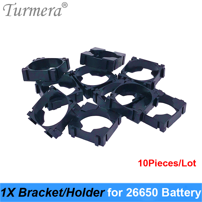 Turmera 26650 1x Lithium <font><b>Battery</b></font> Triple <font><b>Holder</b></font> Bracket For Diy <font><b>Battery</b></font> Pack High Quality for 26650 <font><b>Battery</b></font> Pack Use 10Pieces/Lot image