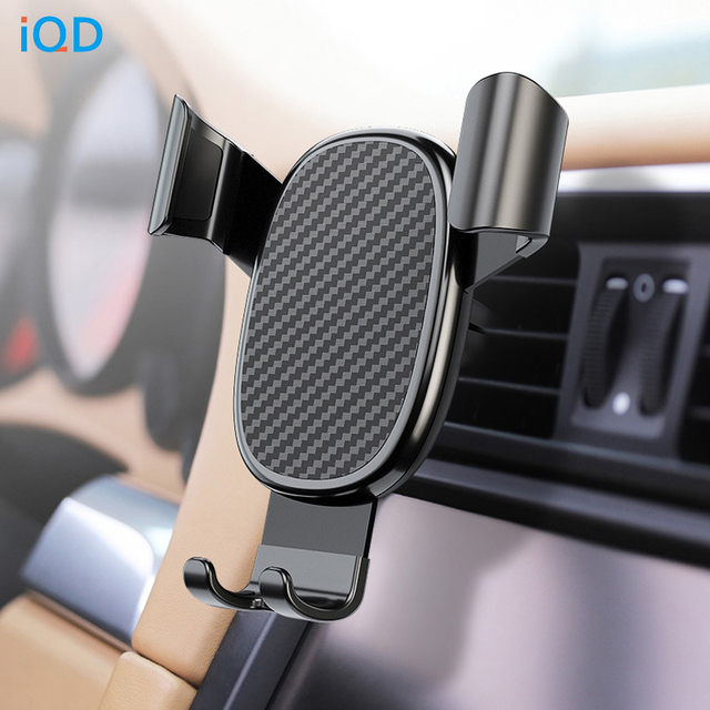 IQD Car Phone Holder Stand Gravity for iPhone Samsung Support Stand Steady Bracket for Huawei Xiaomi Mobile Phone Car Holder New