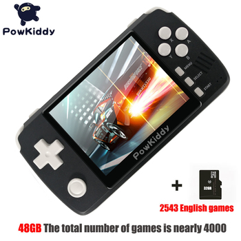 """Powkiddy q80 Retro video Game Console Handset 3.5 """"IPS Screen Built-in 4000 Games Open System PS1 Simulator 48G Memory NEW games"""