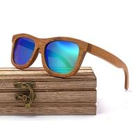 Wayfarer Full - Bambou Foncé - Bleu - Coffret en bois