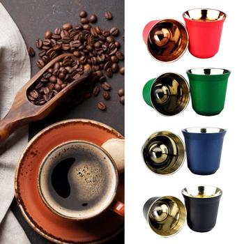 HOT SALE! 80ml Double Wall Stainless Steel Espresso Insulation Coffee Cup Capsule Mug 304