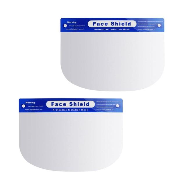2PCS Unisex Anti Saliva Anti Splash Adjustable Outdoor Safe Protective Shield Cover Glasses Flip Up Visor Oil Protection 1