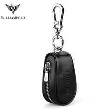 цены Genuine Leather Car Key Wallets Men Keys Organizer Housekeeper Zipper Key Case Bag Pouch Purse Mini PL271