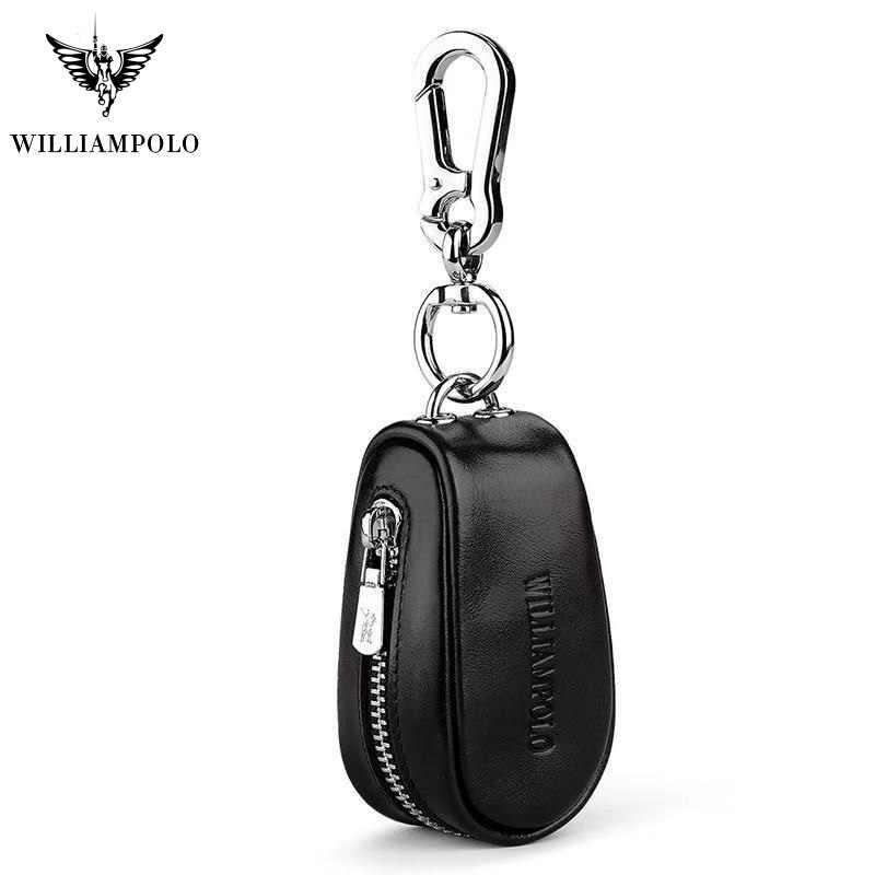 Kulit Asli Mobil Kunci Dompet Pria Kunci Penyelenggara Pembantu Rumah Tangga Zipper Kunci Case Tas Kantong Dompet Mini PL271