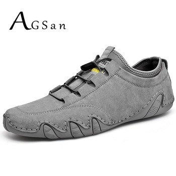 Summer Men Shoes Sneakers Cow Leather Casual Shoes Breathable Driving Moccasins Lace Up Krasovki Men's Shoes Outdoor Footwear 1