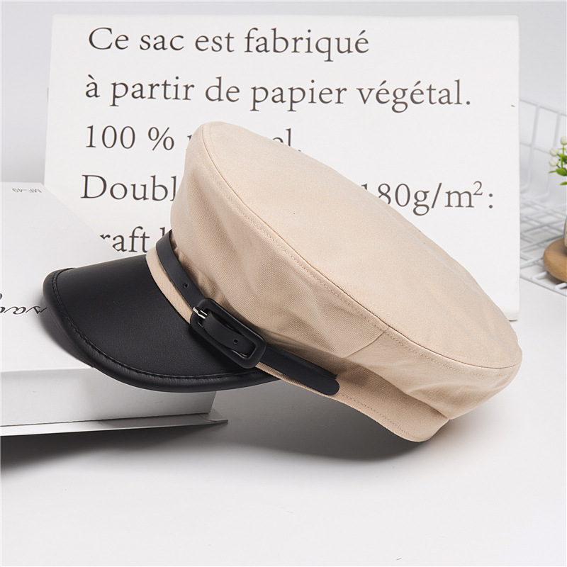 New Hat Female Autumn Korean Version Hundred Sets Navy Cap Retro Paper Boy Cap British Beret Cap Leisure Octagonal Cap in Women 39 s Berets from Apparel Accessories