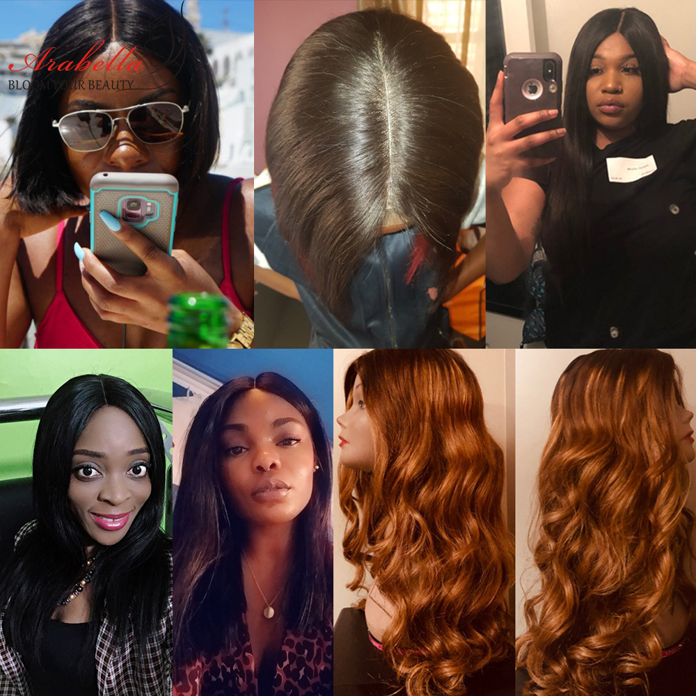 Straight Hair 2X6 Lace Closure Wig 180% Density Pre Plucked With Baby Hair Natural Hair Line Arabella  Hair Wigs 5