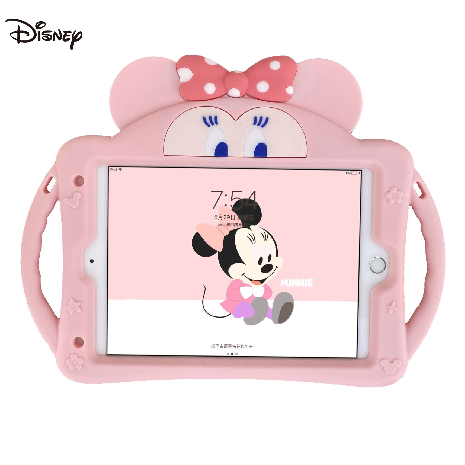 Disney tablet case is suitable for iPad5/6/ min1/2/3/4/5/pro Mickey Ultra Slim Magnetic Cover Case