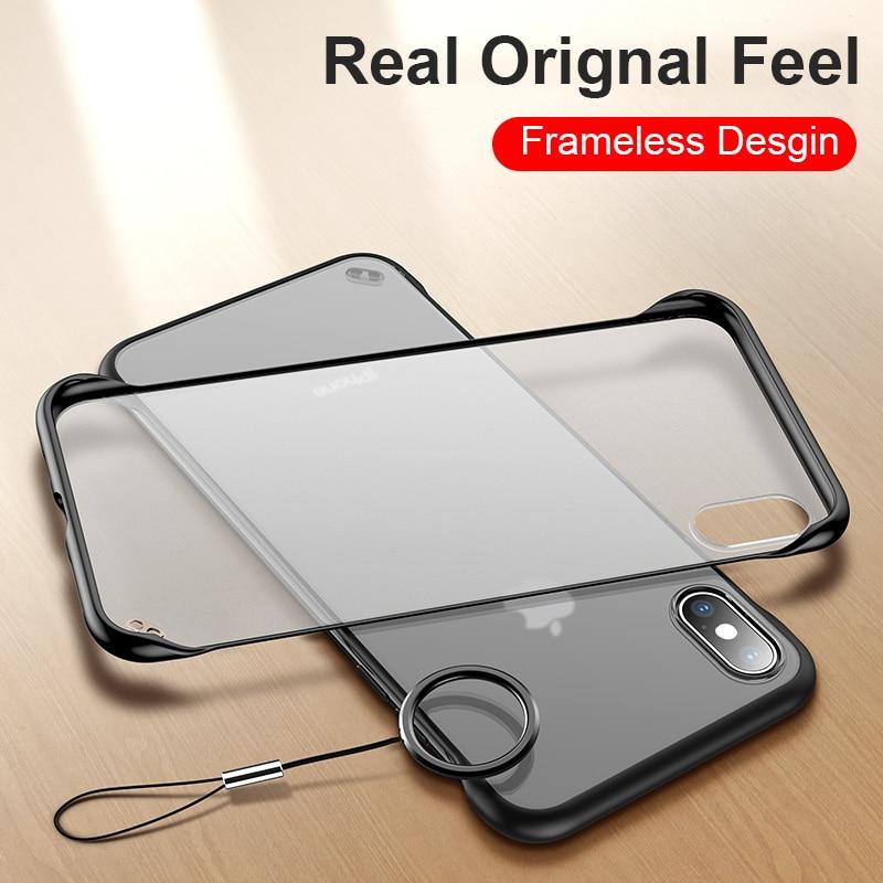 Slim Frameless translucent Matte Phone Case For iPhone Xr iphone X XS MAX Cases For iPhone