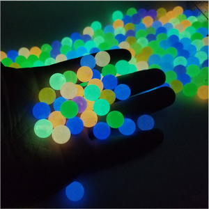New 6-8-10-12mm Glow In The Dark Fishing Loose Beads For Woman Men Luminous Locket Necklace DIY Jewelry Making Acrylic Beads