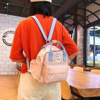 動物プリント女性のバックパック防水リュックサックガールショルダーバッグスクールバッグミニ旅行バックパックジッパーナップザックbolsas mochila