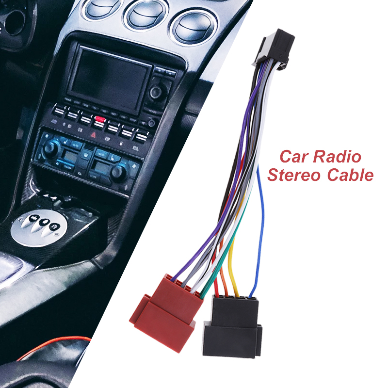 Car Audio ISO Connector Auto Audio 16-Pin ISO Lead Wiring Loom Adaptor Plug Wire Radio Connector For Pioneer Car Accessories