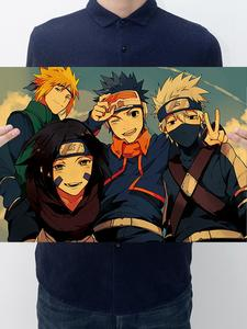 Home Supplies Anime Naruto Retro Kraft Paper Poster Wall Sticker Room Decoration Bar Cafe Bedroom Decoration Painting
