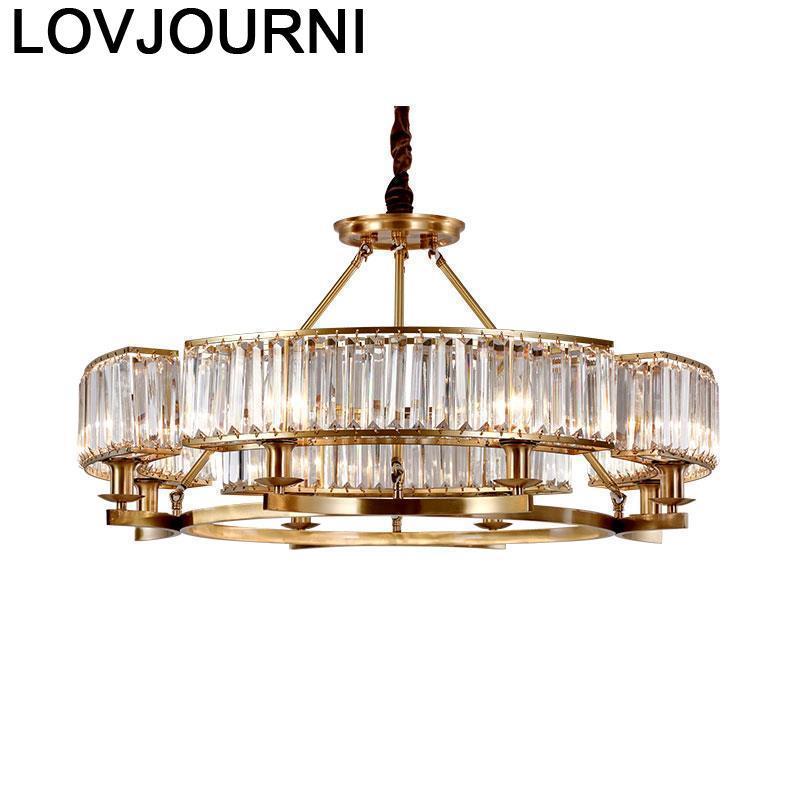 Pendelleuchte Industrial Lamp Lustre Pendente Home Deco Lampara Colgante Crystal Light Suspendu Suspension Luminaire Hanglamp