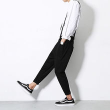 Streetwear Trousers Jumpsuit Overalls Business-Pants Cargo Black Men's Fashion Casual