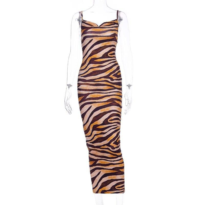 tiger midi dress23