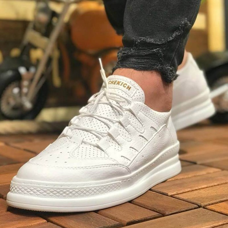 Chekich CH040 Black B.T Male Sneakers Comfortable Flexible Fashion Style Leather Wedding Classic Sneakers кеды Spring 2020