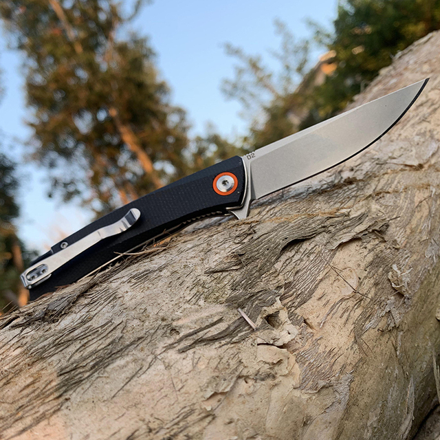 Folding knife Ball bearing tactical knives D2 Blade High-end linen handle outdoor Hunting knife EDC Camping Multi Tools TUNAFIRE 5