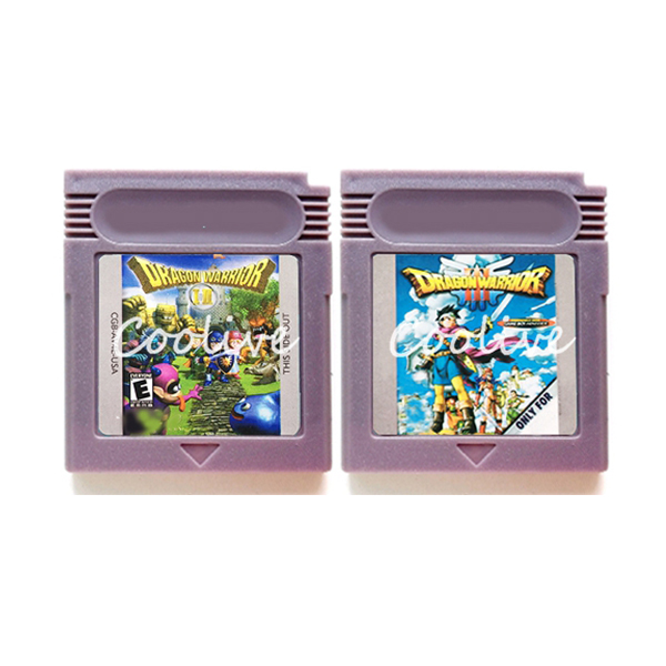 Grey Shell Dragon Warrior 1 2 3 Video Game Memory Cartridge Card for 16 Bit Console