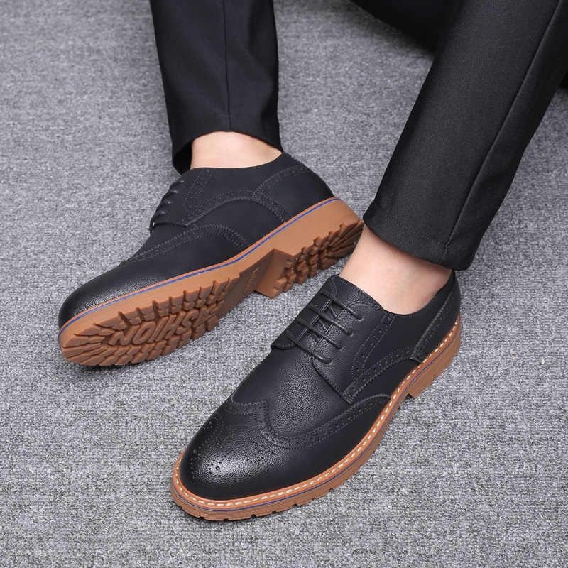 Toe Wedding Flats Men Shoes Casual
