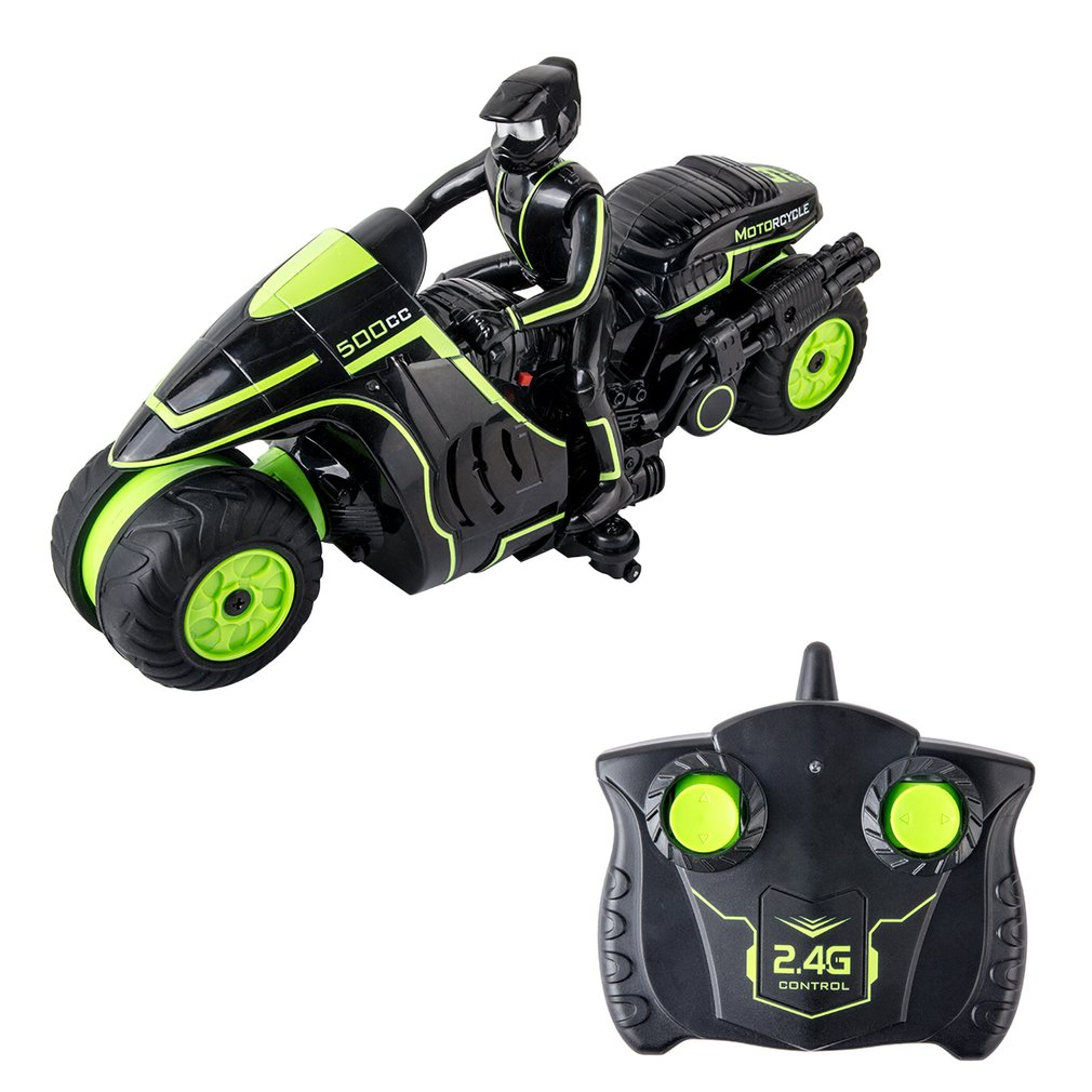 1:18 2.4Ghz Racing 4 Channel <font><b>RC</b></font> <font><b>Motorcycles</b></font> 2 Wheels Rapid Drift 360 Degree Rotation <font><b>rc</b></font> Stunt <font><b>Motorcycle</b></font> Eelectric Vehicle Gift image