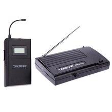 Takstar WPM-200 UHF Беспроводная аудио система приемник ЖК-дисплей 6 выбираемых каналов 50 м передача с наушниками-вкладышами
