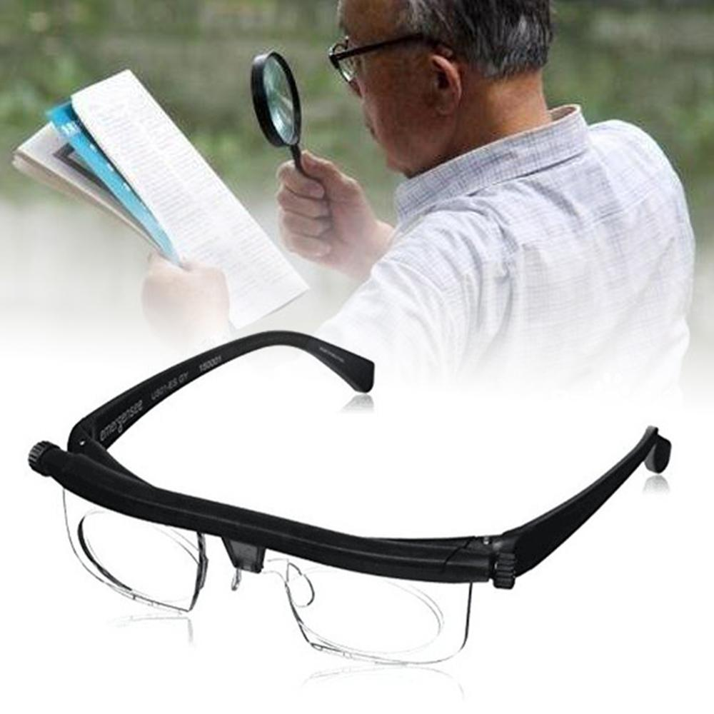 HOT Adjustable Strength Lens Eyewear Variable Focus Distance Vision Zoom Glasses Protective Magnifying Glasses With Storage Bag