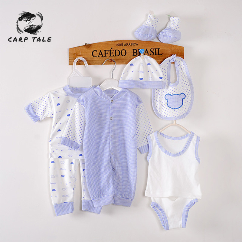 8Piece lot 0 3Months Spring Autumn Newborn Baby Tracksuit 100 Cotton Kids Clothes Suit Unisex Infant Boys Girls Clothing Set in Clothing Sets from Mother Kids