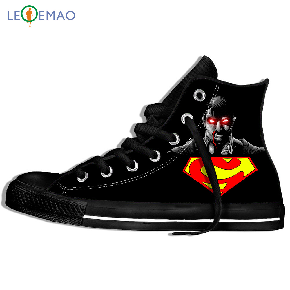 Custom Image Printing Sneakers Superman Rashgard Men/ Canvas Canvas Breathable Walking Flat Zapatos De Mujer