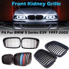 مصد أمامي شبكي أحادي الفتحة مناسب لسيارات BMW 5 Series E39 M5 1997 2003 ، قطع غيار ملحقات السيارة