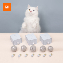 Xiaomi piłka z kocimiętką zabawki dla kota zdrowa piłeczka z naturalną kocimiętką uzależnienie od kota kocimiętka koty lizanie przekąsek kot kotek grający prezent z motywem kota tanie tanio Xiaomi Catnip Ball Cat Toys Ready-to-go Gniazdo 2 kanałów 5 5cm diameter 10*9*6 5cm Catnip Ball catnip toy Cat Toys Ball natural catnip