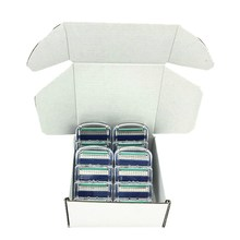 Custom Packaging Men 5 Layer Shavers Razor Blades Shaving Cassettes Face Care Shaving Blades Replaceable Gilletee Fusione 16pcs