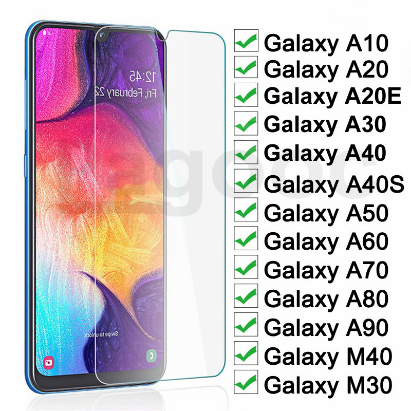 9H Protective Glass On For Samsung Galaxy A20 A30 A40 A50 A10 A20E 40S A60 A70 A80 A90 M30 M40 Screen Safety Tempered Glass Film