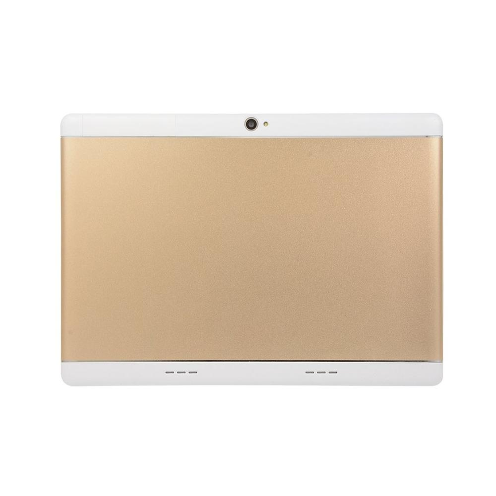 KT107 Tablette à Trou Rond 10.1 Pouces HD Grand écran Android 8.10 Version Tablette Portable De Mode 8G + 64G Tablette En Or