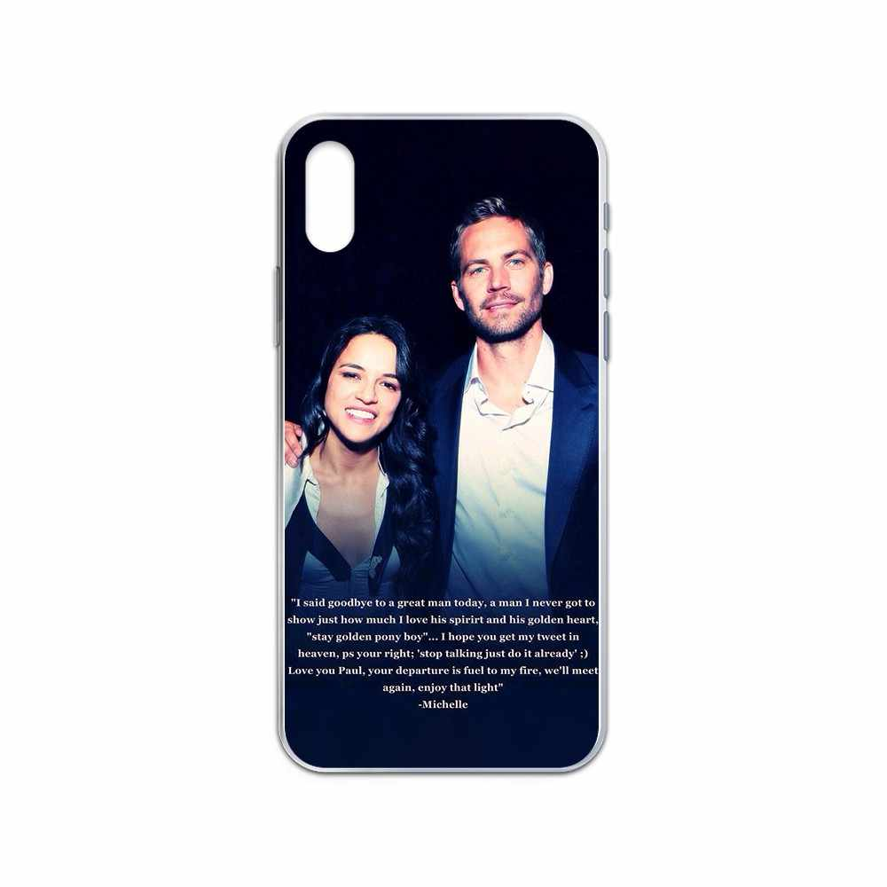 Rapide & furieux Paul Walker coque coque coque de téléphone transparente pour iphone 4 4S 5 5C 5S 6 6S PLUS 7 8 X XR XS 11 PRO SE 2020 MAX