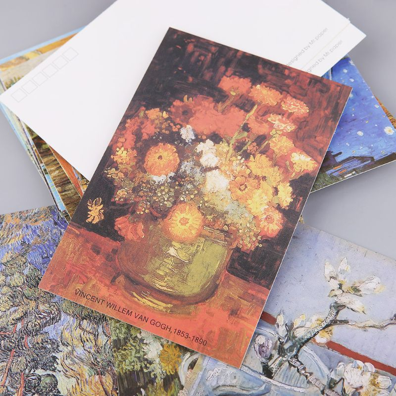 30 Sheets Famous Person Paintings Retro Vintage Postcard Christmas Gift Card Wish Poster Cards  3