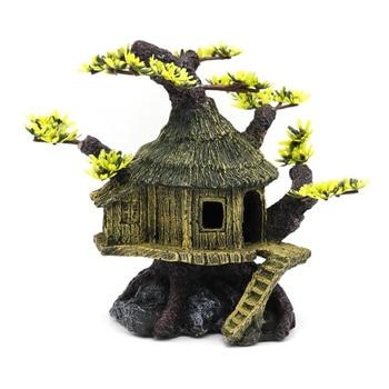 Tree House Decorative Aquarium Ornament