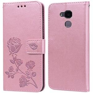 Роскошный кожаный чехол-книжка с откидной крышкой для Huawei Honor 7i / Shot X 7 Lite, чехол-бумажник с подставкой и держателем для карт, чехол для телефо...