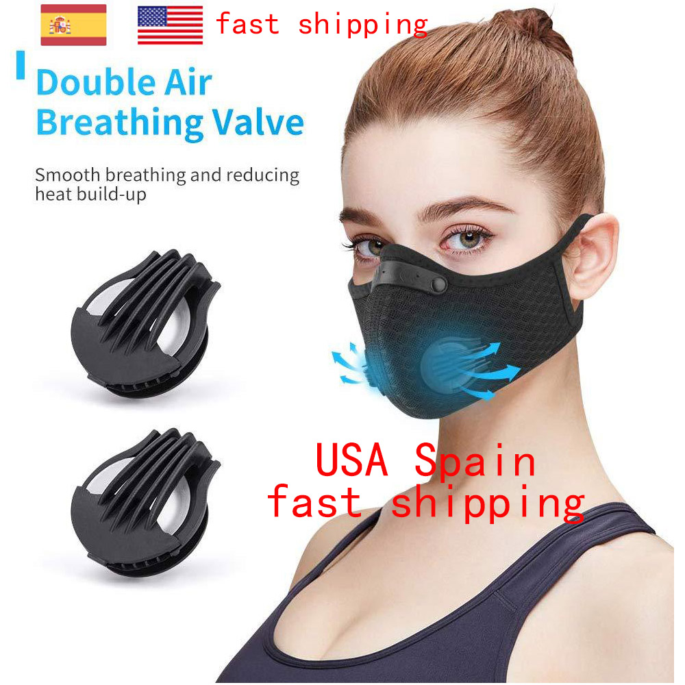 KN95 Protective Dust Mask PM2.5 Sport Face Mask With Breathing Valve For Anti-dust Respirator Mask USA Spain Fast Shipping