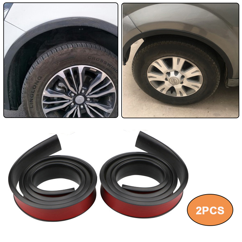 2pcs Car Wheel Arch Protection Moldings Anti-collision Mudguard Universal Rubber Car Wheel Protection Wheel Car Styling