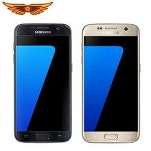 Samsung Galaxy S7 Quad Core 5,1 дюймов 4G RAM 32G ROM LTE 4G 12MP камера 3000 мА/ч, 1440x2560 оригинальный разблокирована Android мобильный телефон