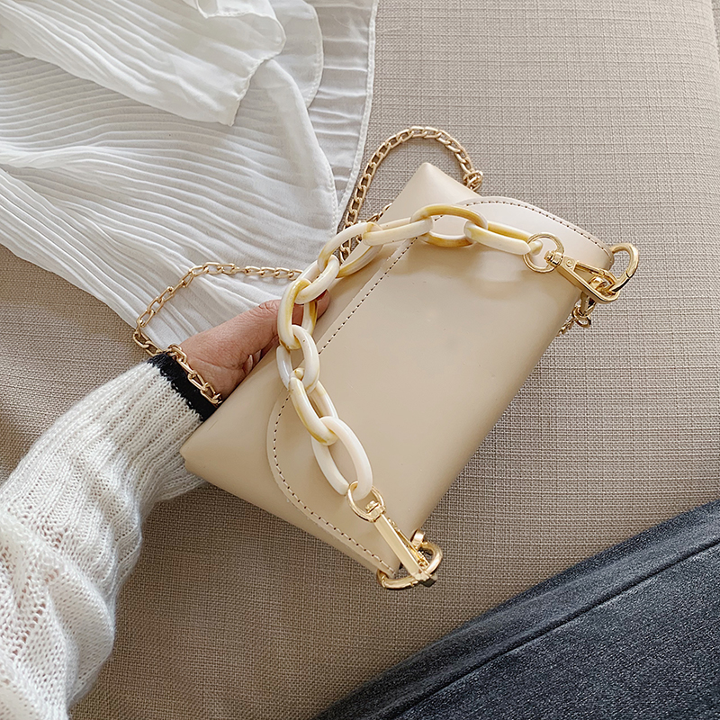 Chain PU Leather Shoulder Messenger Bags For Women 2020 Mini Crossbody Bag Female Handbags And Purses Summer Cross Bag