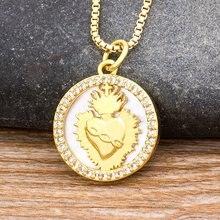 Новое поступление религиозный узор золотое украшение на шею