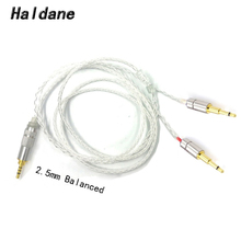 Free Shipping Haldane 3.5/2.5/4.4 Balanced 8core  Silver Plated Headphone Upgrade Cable for HE1000 HE400S HE560 Oppo PM 1 PM 2