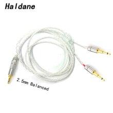 Ücretsiz kargo Haldane 3.5/2.5/4.4 dengeli 8 çekirdekli gümüş kaplama kulaklık yükseltme kablosu için HE1000 HE400S HE560 oppo PM 1 PM 2