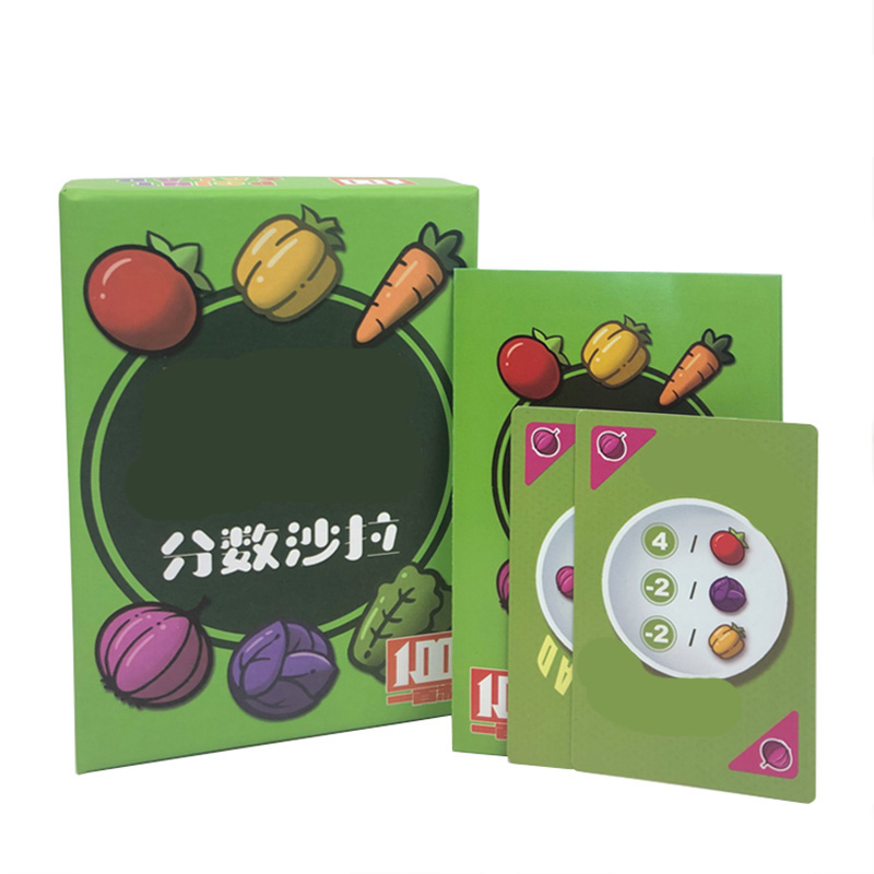 Fraction SALAD Funny Board Game 2-6 Players For Family/Party/Friend Send Children Gift